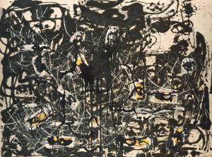 Yellow Islands 1952 Jackson Pollock 1912-1956 Presented by the Friends of the Tate Gallery (purchased out of funds provided by Mr and Mrs H.J. Heinz II and H.J. Heinz Co. Ltd) 1961 http://www.tate.org.uk/art/work/T00436