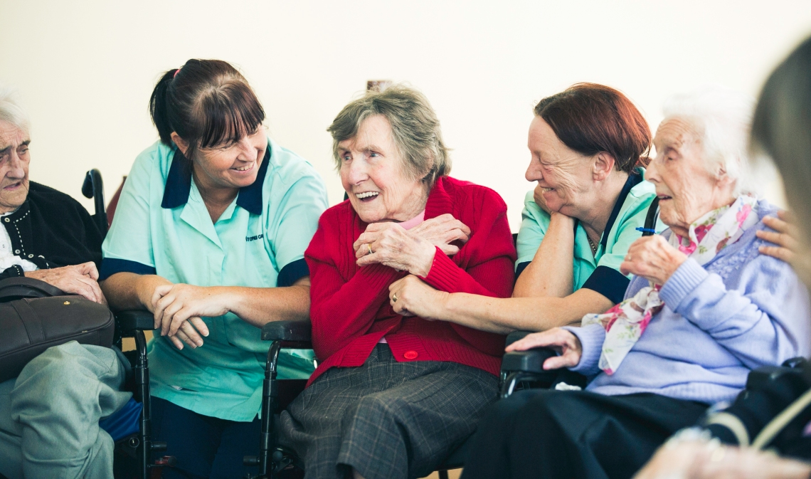 Joyce, Monica & Vera Stewart plus care staff 2